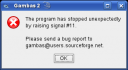 error crash