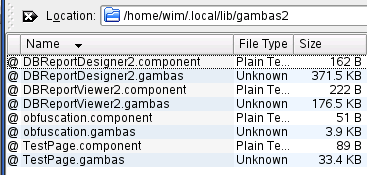 Gambas user components